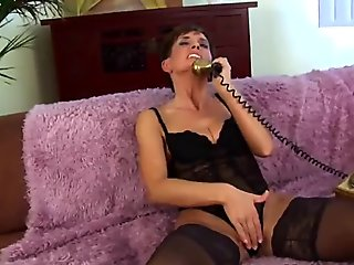 Older woman in black stockings gets fucked