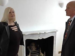 Chubby brit granny banged