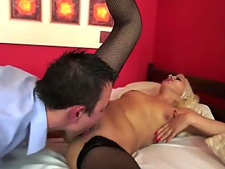 Nasty Hungarian mature takes much younger meat