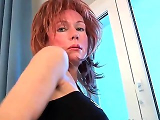 53 year old granny fucks her old pussy with a dildo