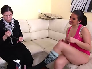 OldNanny Granny with her girlfriend masturbating pussy