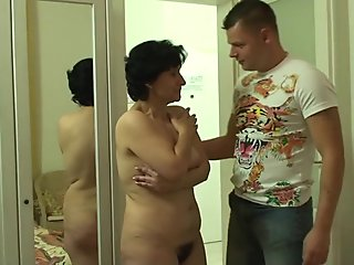 Wife finds him fucking her old hairy snatch